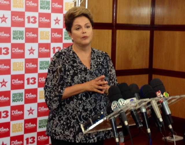 """""""Eu era generosa. Eu diria excessivamente generosa. Eu fiquei bastante crítica"""", disse Dilma sobre elogio a Aécio Foto: Débora Melo/Terra"""