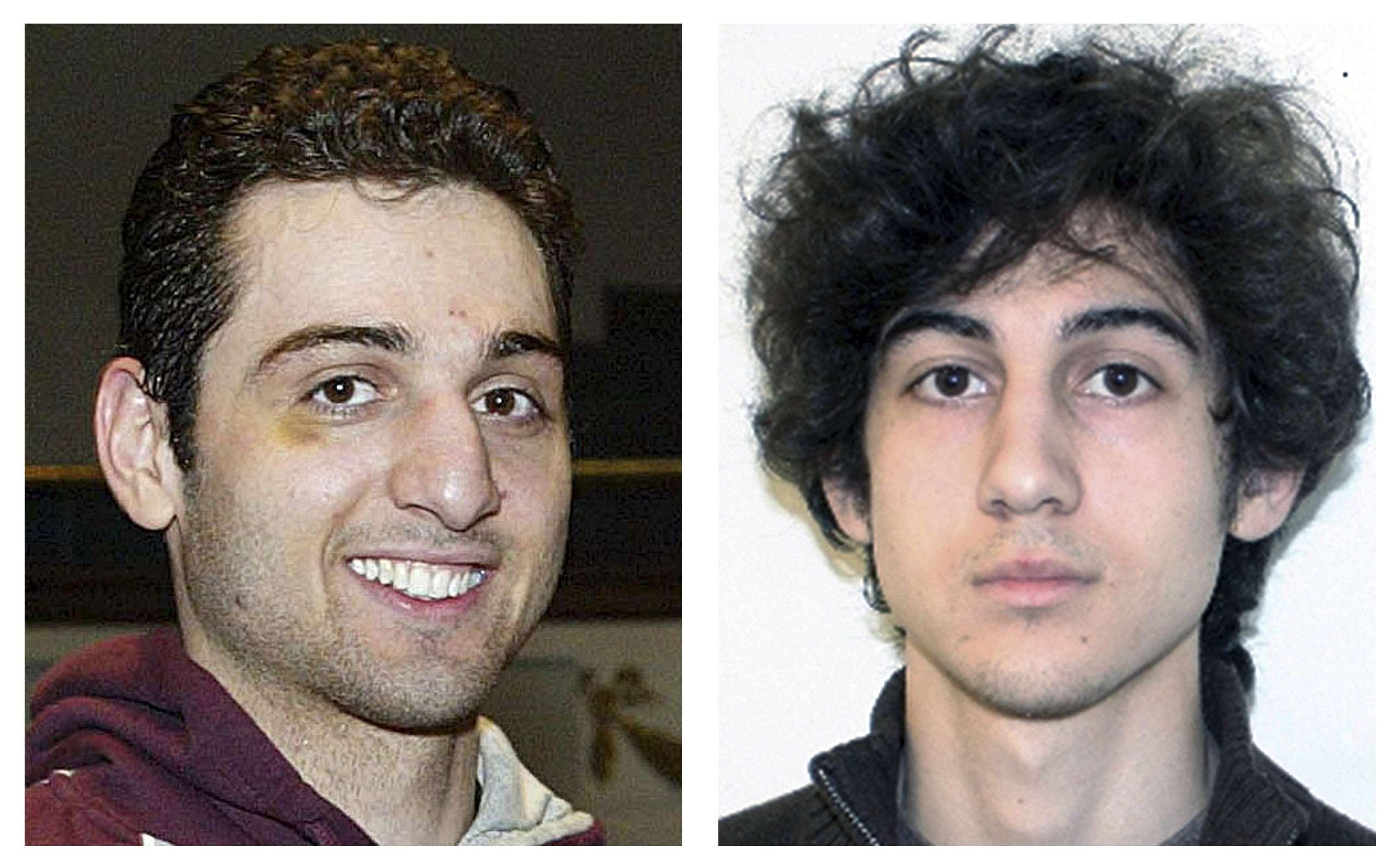 Fotografías de los hermanos Tamerlan (izquieda) y Dzhokhar Tsarnaev, sospechosos del atentado cometido en el Maratón de Boston el 15 de abril de 2013. Foto: AP en español