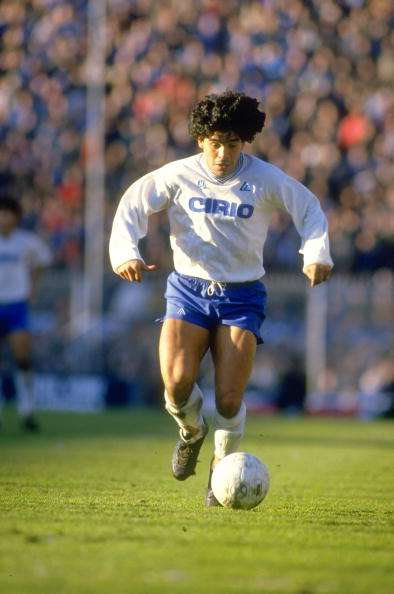 Maradona ganó dos veces el 'scudetto' con el Napoli. Foto: Getty Images