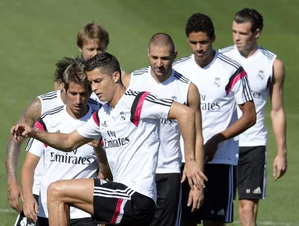 Entrenamiento del Real Madrid. Foto: AFP en español