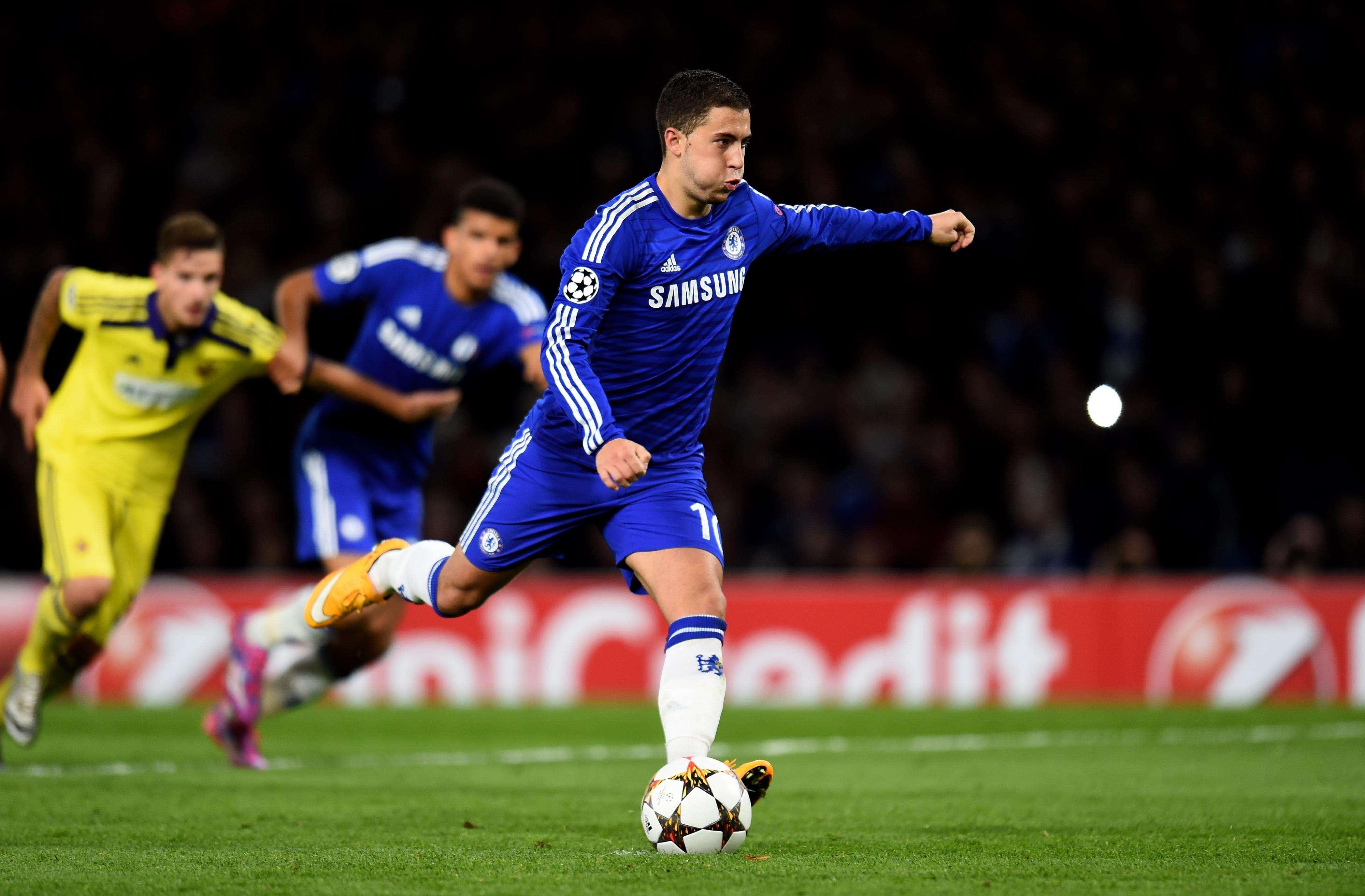 Hazard anotó dos goles, uno de penal. Foto: Getty Images