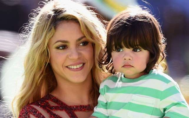 Shakira y su hijo Milan. Foto: Getty Images