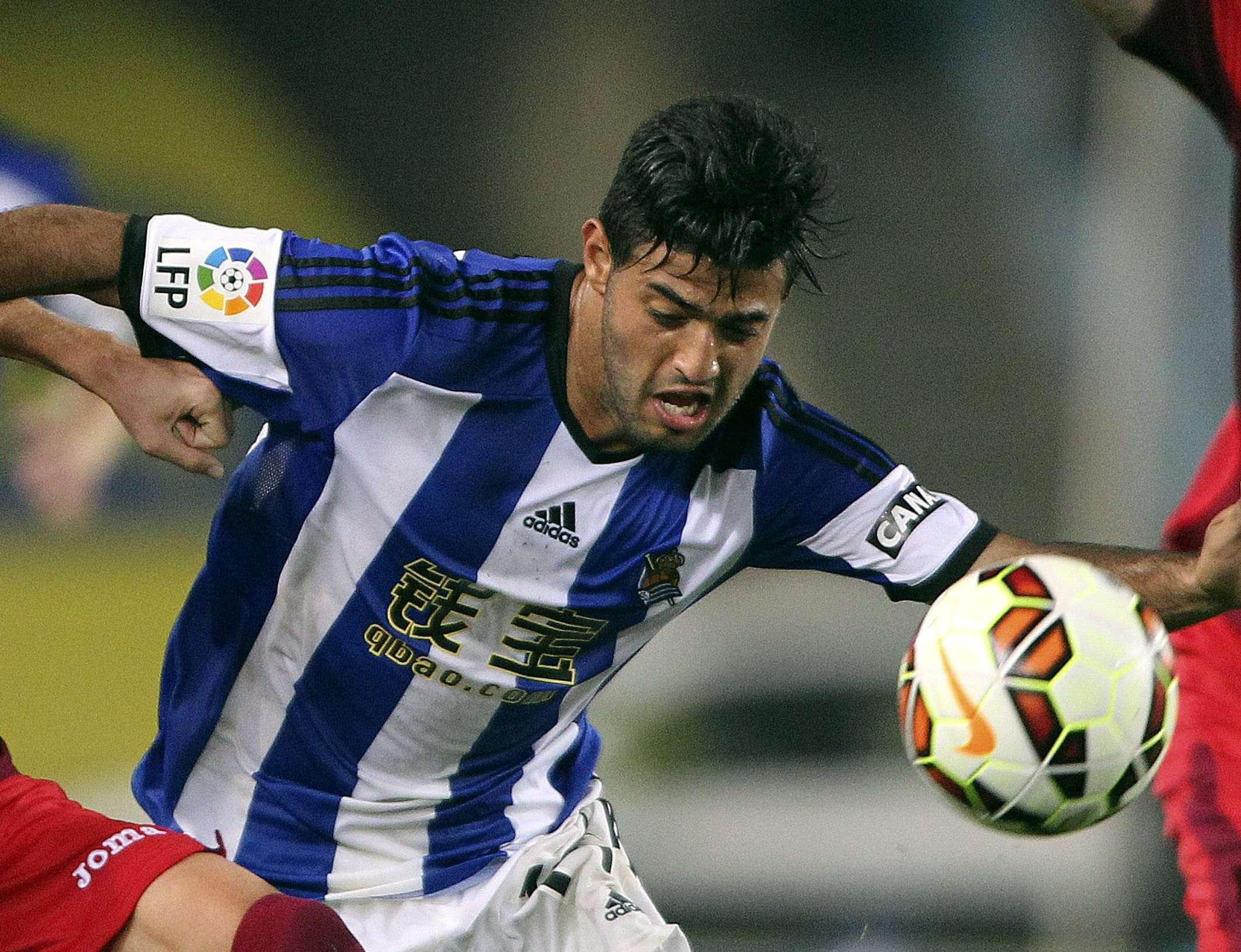 Carlos Vela suma un gol con la Real Sociedad en ocho jornada de La Liga española. Foto: EFE
