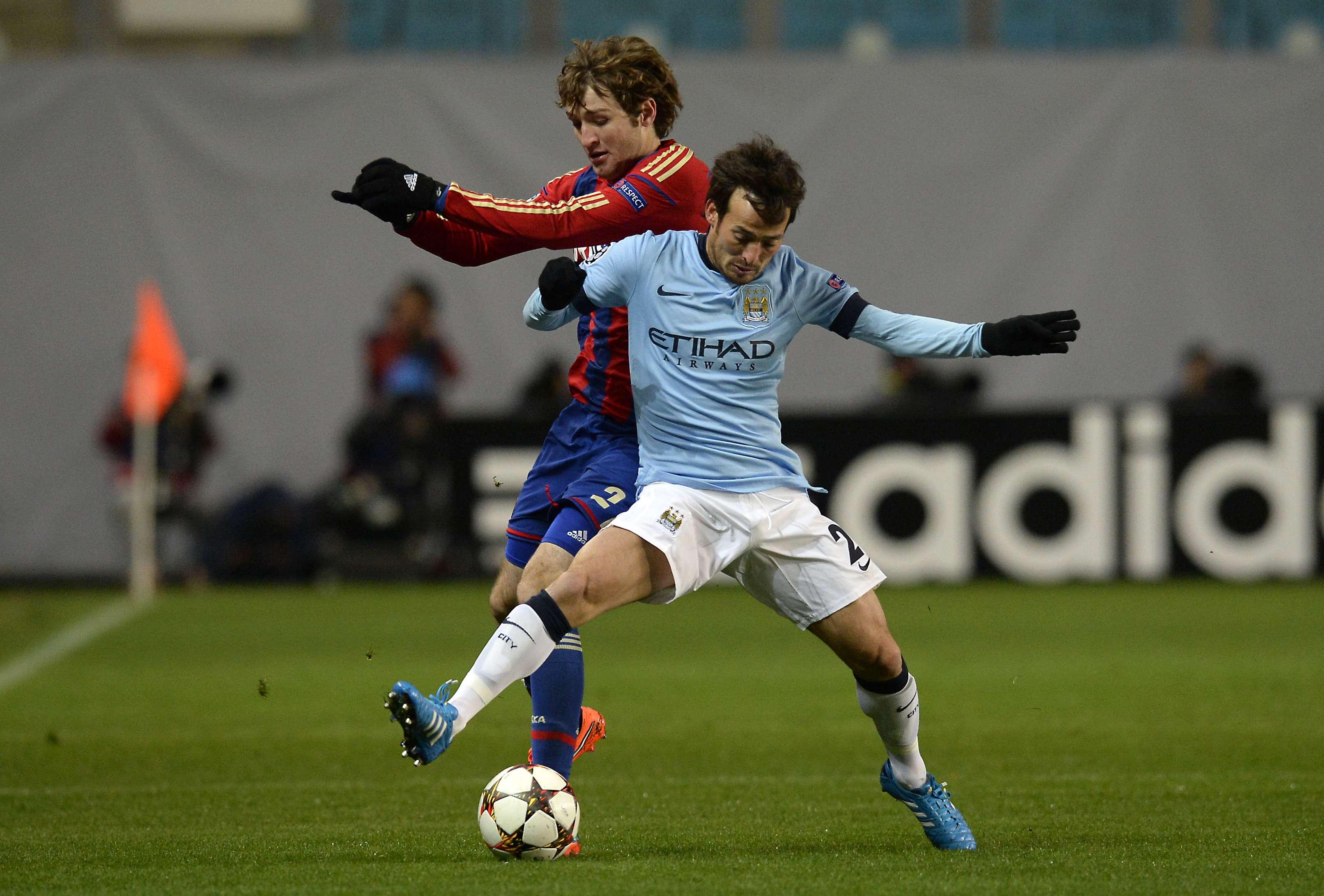 CSKA vino de atrás y empató con el City. Foto: AFP