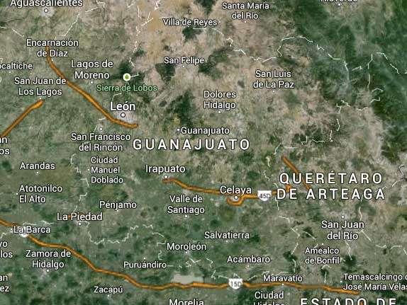 El alcalde priista de Guanajuato, Luis Gutiérrez Márquez, señaló que se solicitó a la Procuraduría General de Justicia del Estado investigar la muerte del estudiante. Foto: Google Maps