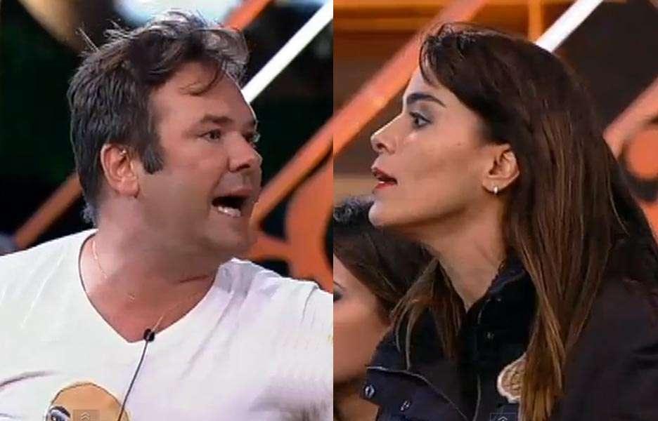 Felipeh e Heloísa ignoram Britto Jr. e brigam durante programa ao vivo. Foto: Reprodução
