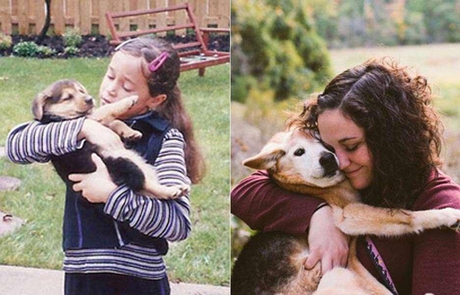 Mulher faz ensaio emocionante para se despedir do seu cão de 16 anos. Foto: Reprodução