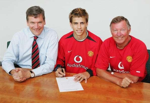 Piqué, en su época como 'red devil'. Foto: Manchester United