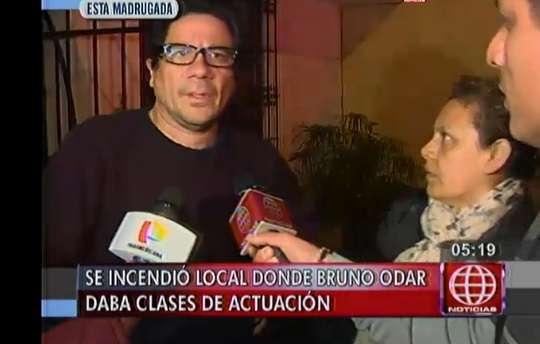 Actor de la popular serie Al Fondo Hay Sitio cree que el incendio fue provocado Foto: Captura Tv.