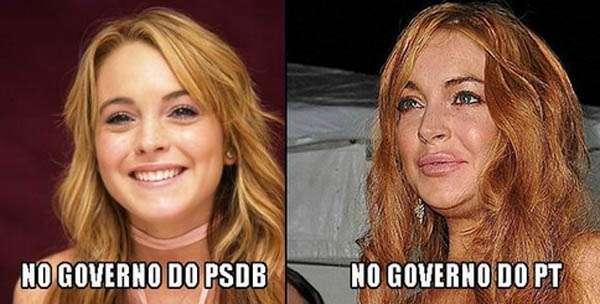 Internautas brincam com apoio de Lindsay a Aécio; veja memes Foto: Twitter/Reprodução