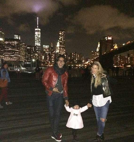 Falcao junto a su esposa Lorelei y su hija Dominique. Foto: Instagram Radamel Falcao