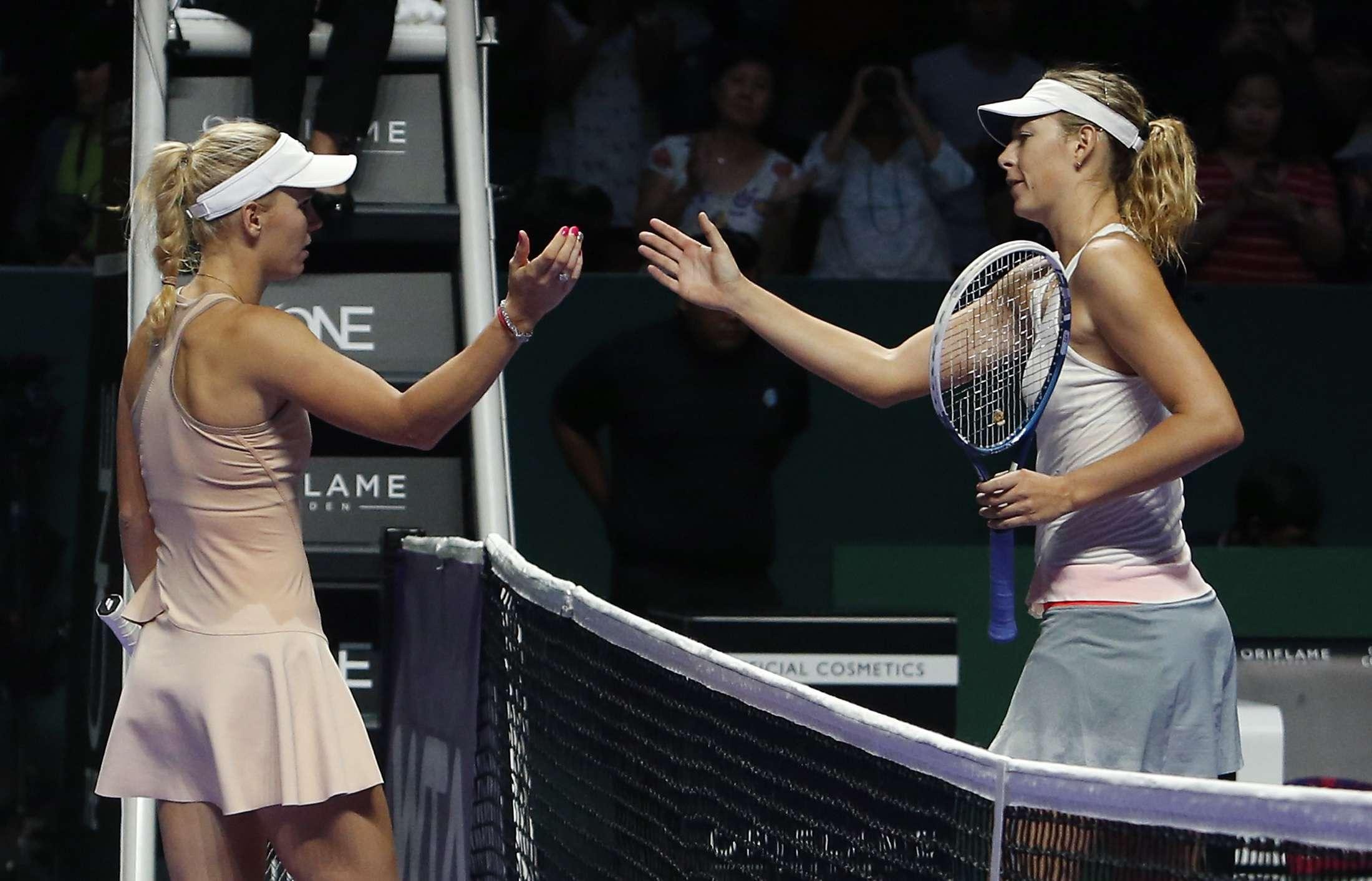 Wozniacki venció a Sharapova en Singapur. Foto: Reuters