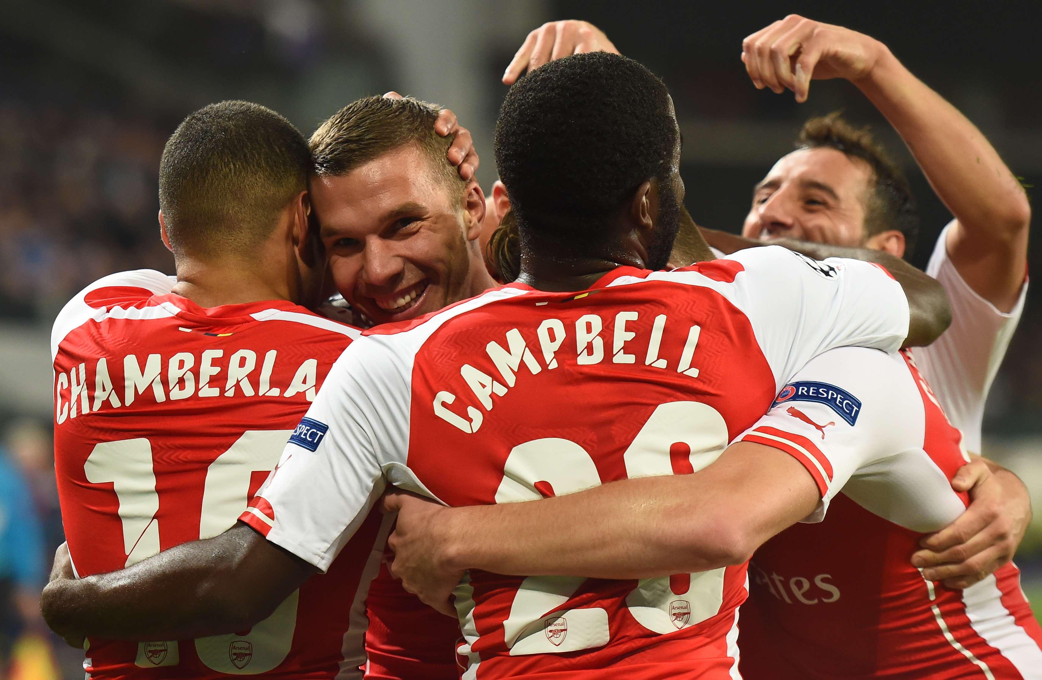 Arsenal remonta y vence 2-1 al Anderlecht en la Champions. Foto: AFP