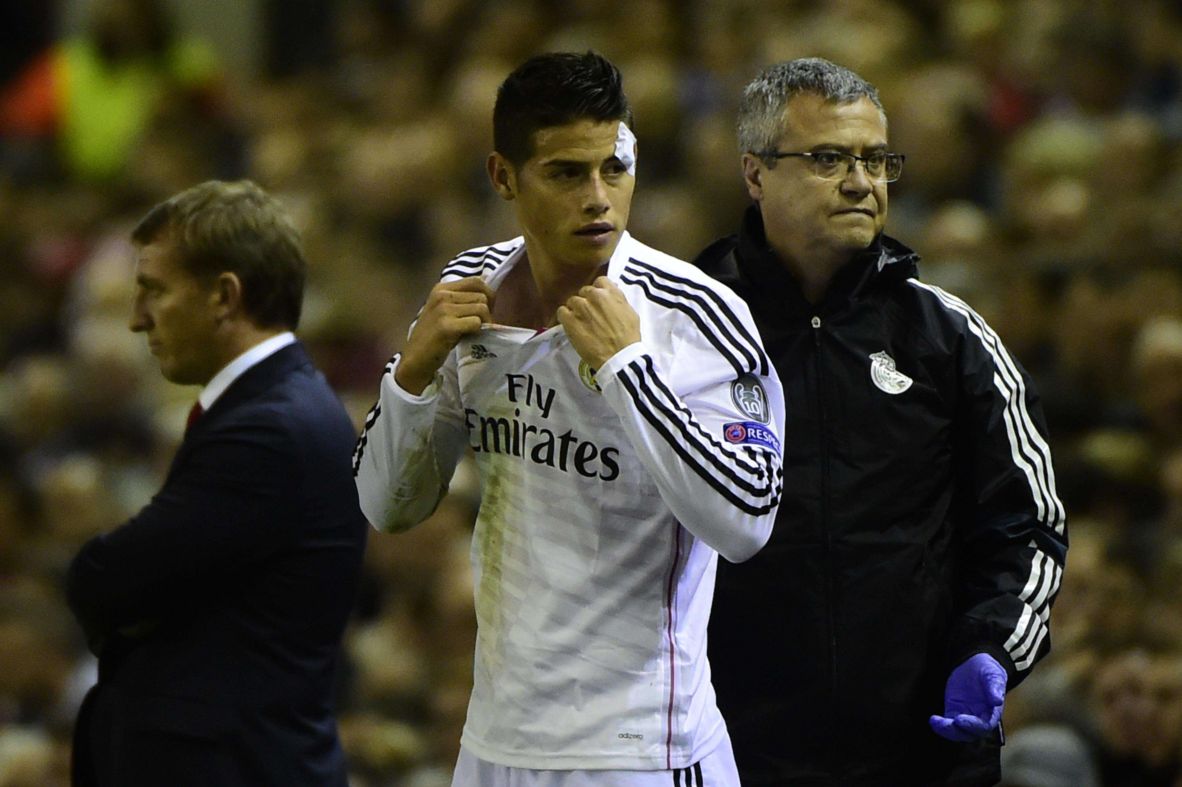 James Rodríguez con el Real Madrid. Foto: AFP