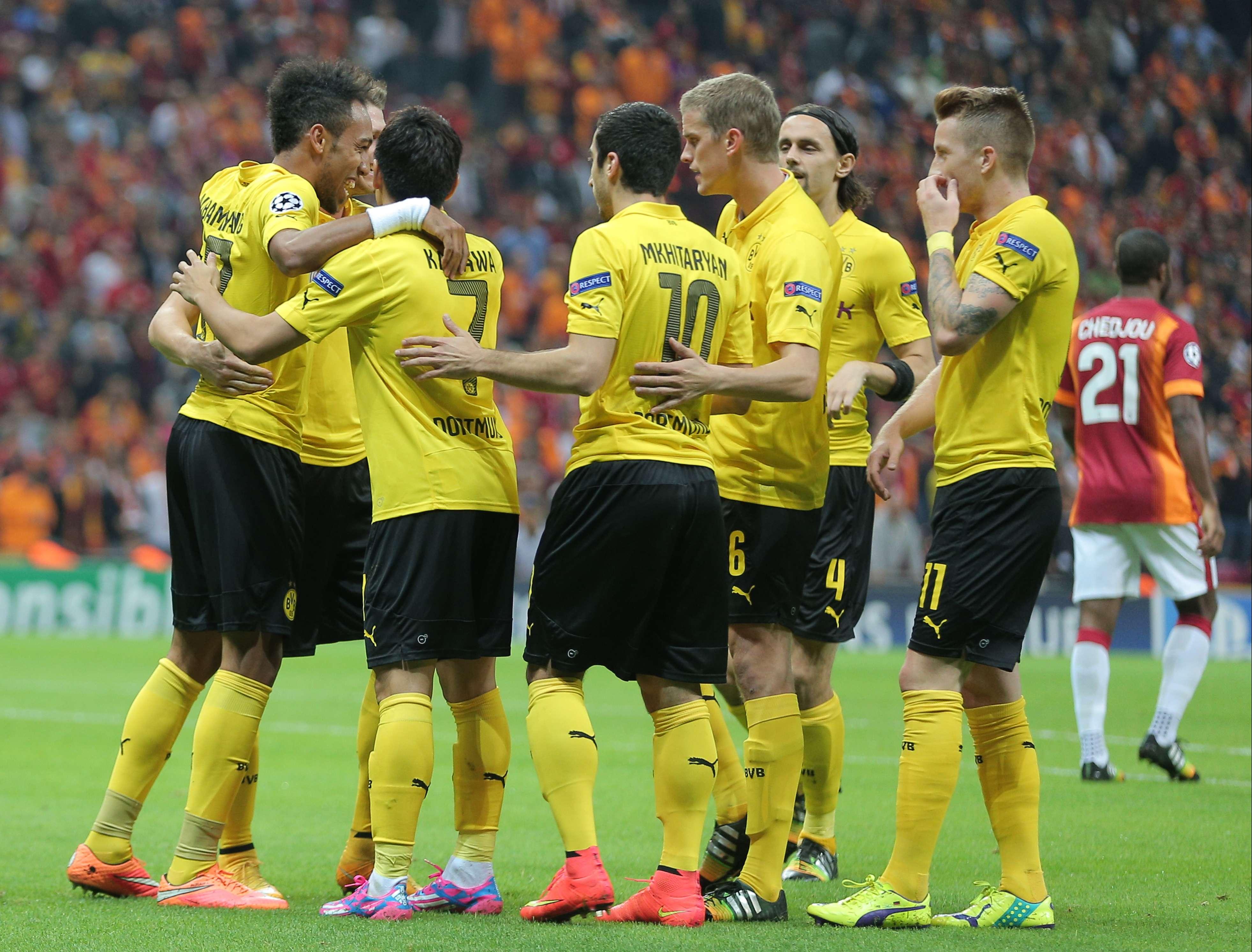 Borussia Dortmund está em grande momento na Liga dos Campeões Foto: AP