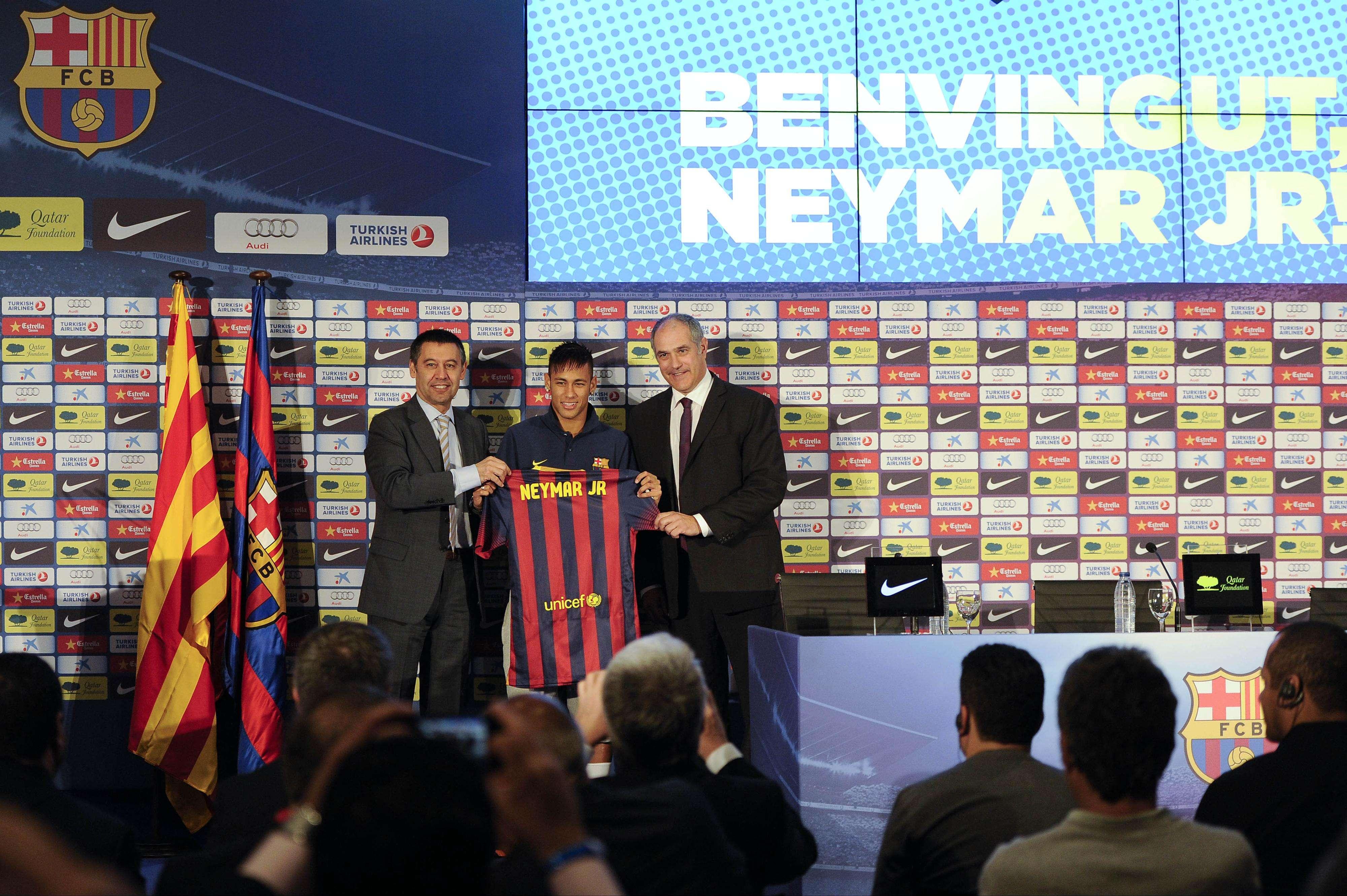Presentación de Neymar. Foto: Getty Images