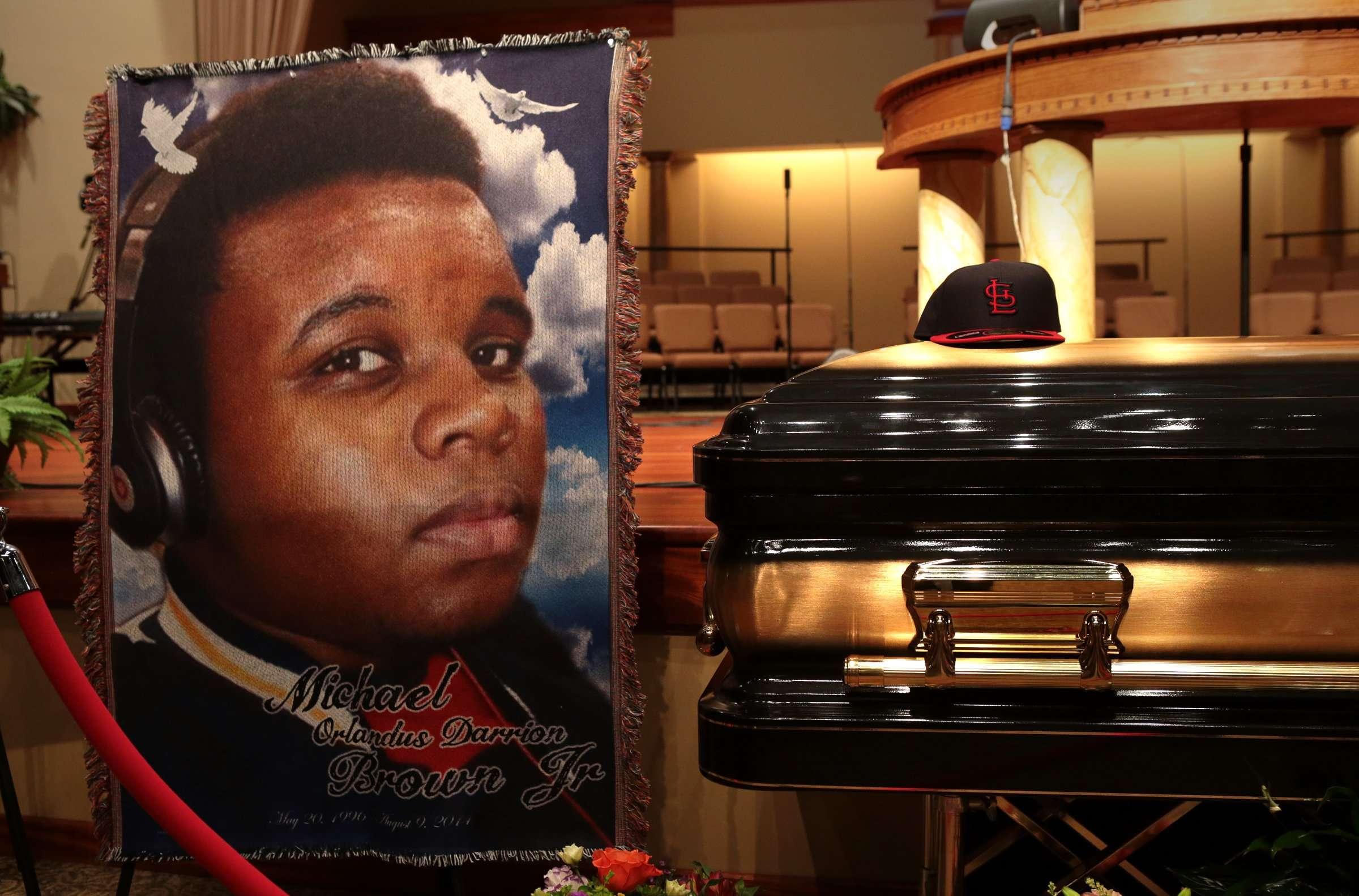 Funeral del joven afroamericano Michael Brown el 25 de agosto de 2014. Foto: AP en español
