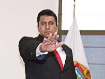 En abril, Pedro Orea había tomado protesta en el cargo de director general de Seguridad Ciudadana y Vial de Ecatepec. Foto: Twitter/@pablobedolla