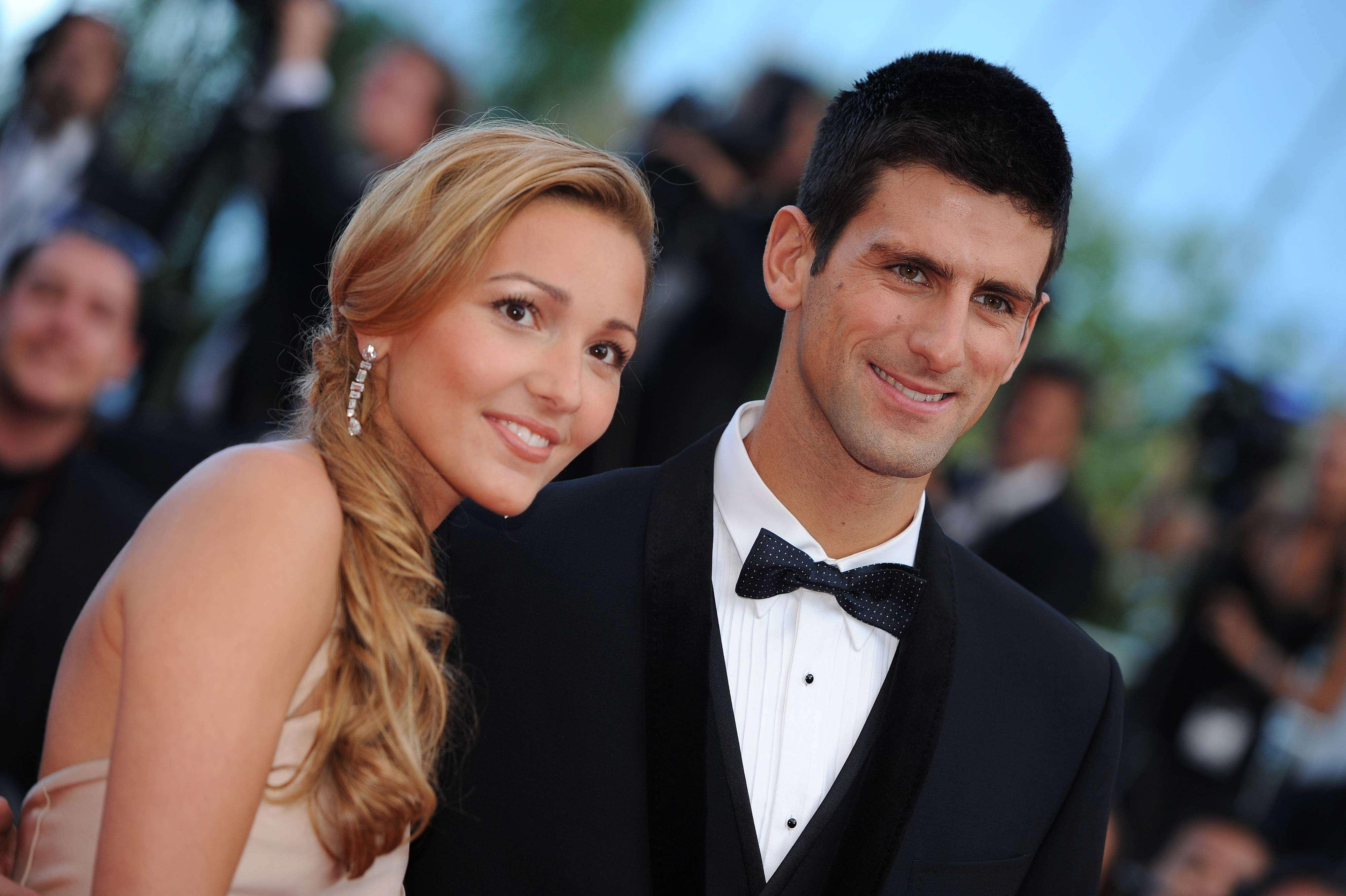 Djokovic y su mujer, Jelena. Foto: Gtres