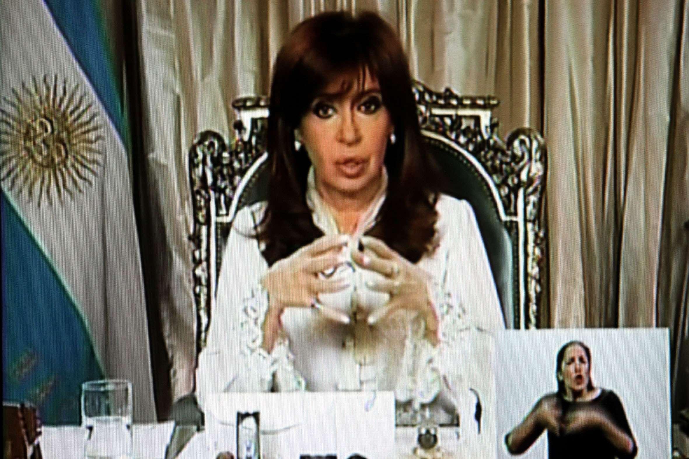 Cristina Fernández. Foto: Agencia