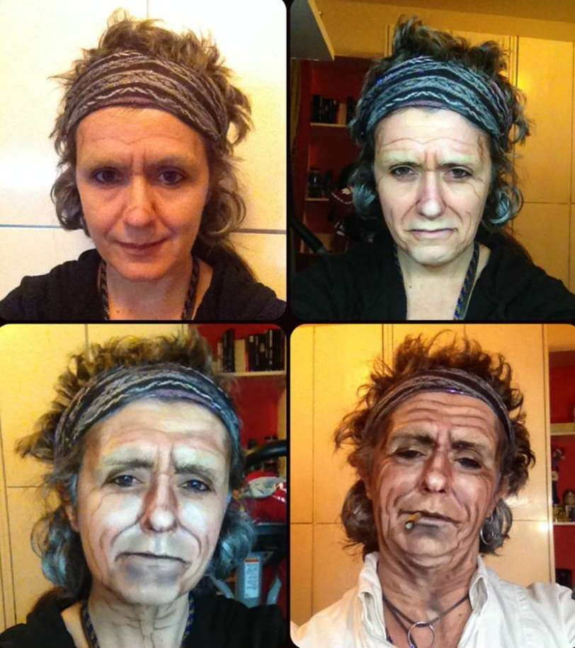 Lucia Pittalis como Keith Richards Foto: Facebook / Reprodução