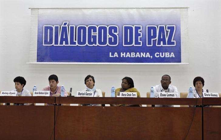 Vítimas do conflito armado na Colômbia participam de conferência de paz entre as Farc e o governo colombiano, em Havana. 10/09/2014 Foto: Enrique De La Osa/Reuters