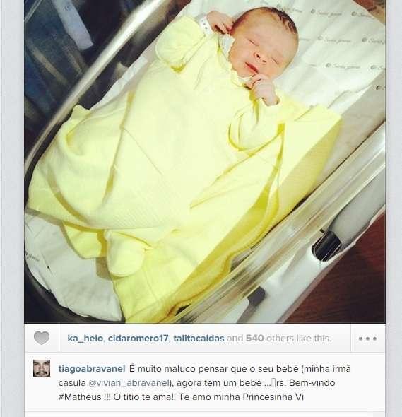 """Tiago Abravanel escreveu a palavra caçula com """"s"""" Foto: @tiagoabravanel/ Instagram/Reprodução"""