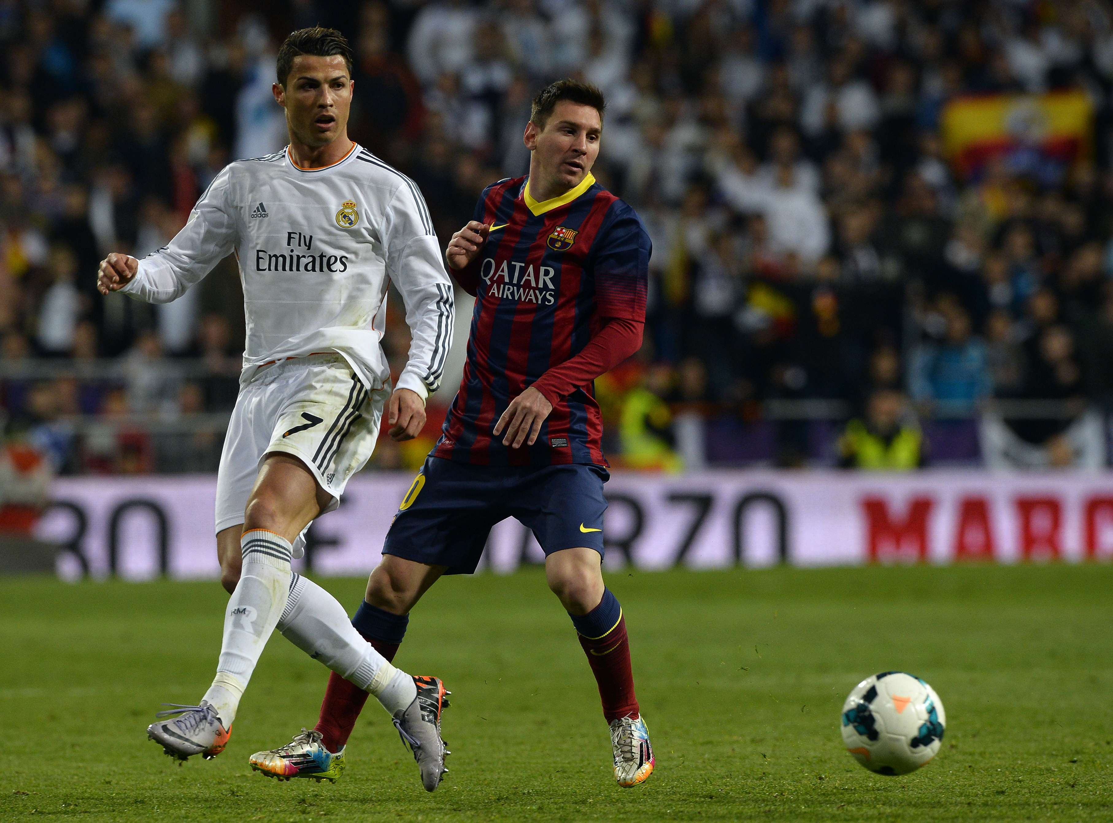 Cristiano Ronaldo y Messi. Foto: Getty Images