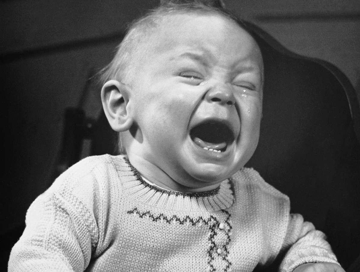 Niño de los 50 llorando. Foto: GETTY