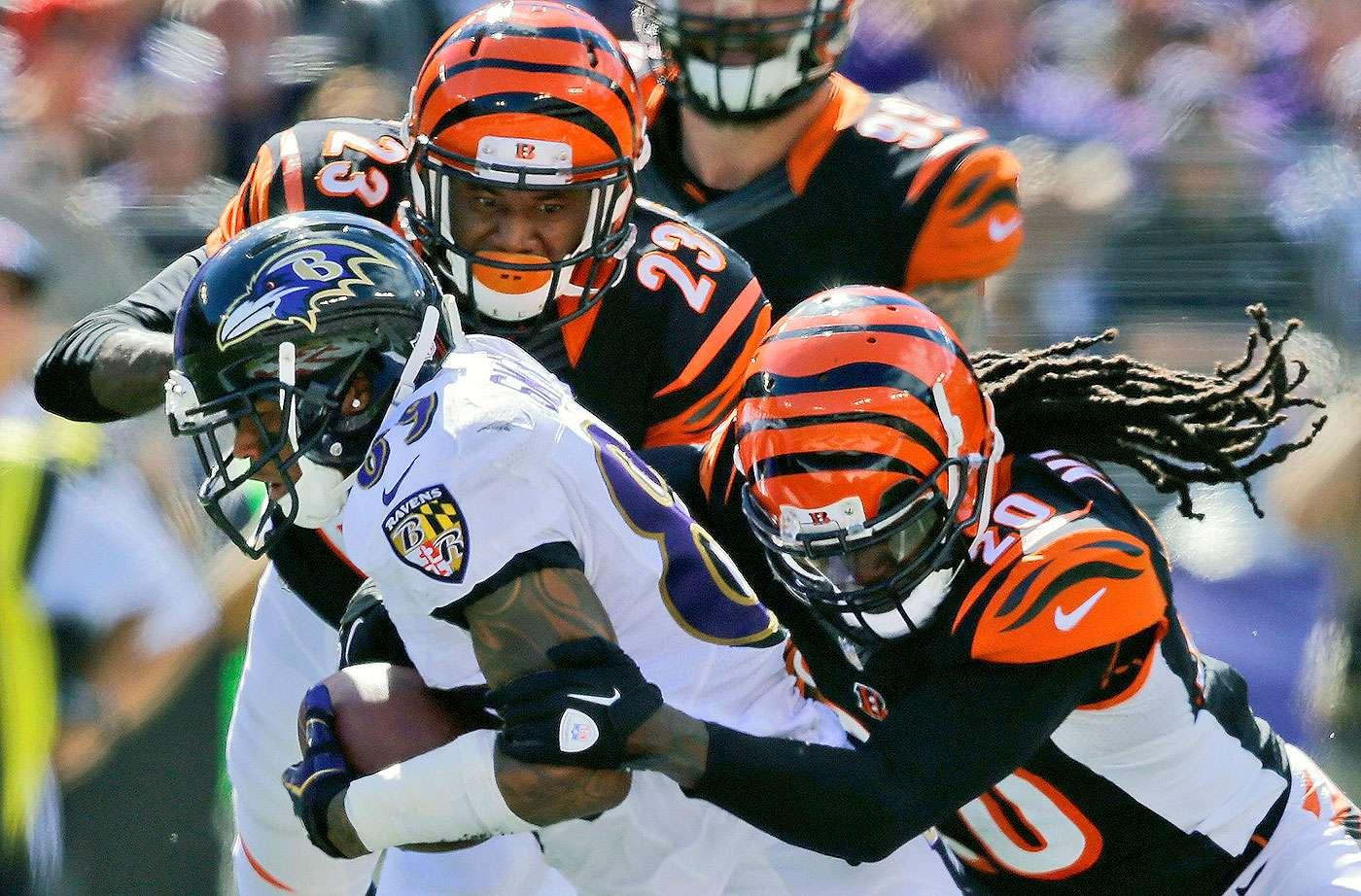 Baltimore Ravens vs Cincinnati Bengals (Domingo al mediodía). Este juego ya se dio en la semana 1 con triunfo de los Bengals. Los Ravens han mejorado mucho desde entonces. Los Bengals se miden a una defensiva mejor que los blanqueó en Indianapolis. Baltimore gana por menos de 5 puntos. Foto: AP