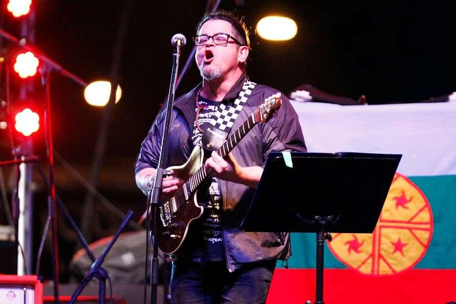Joe Vasconcellos en Matucana 100 el 13 de diciembre. Foto: Agencia UNO
