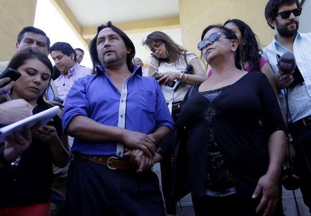 Padres del joven fallecido Foto: Agencia UNO