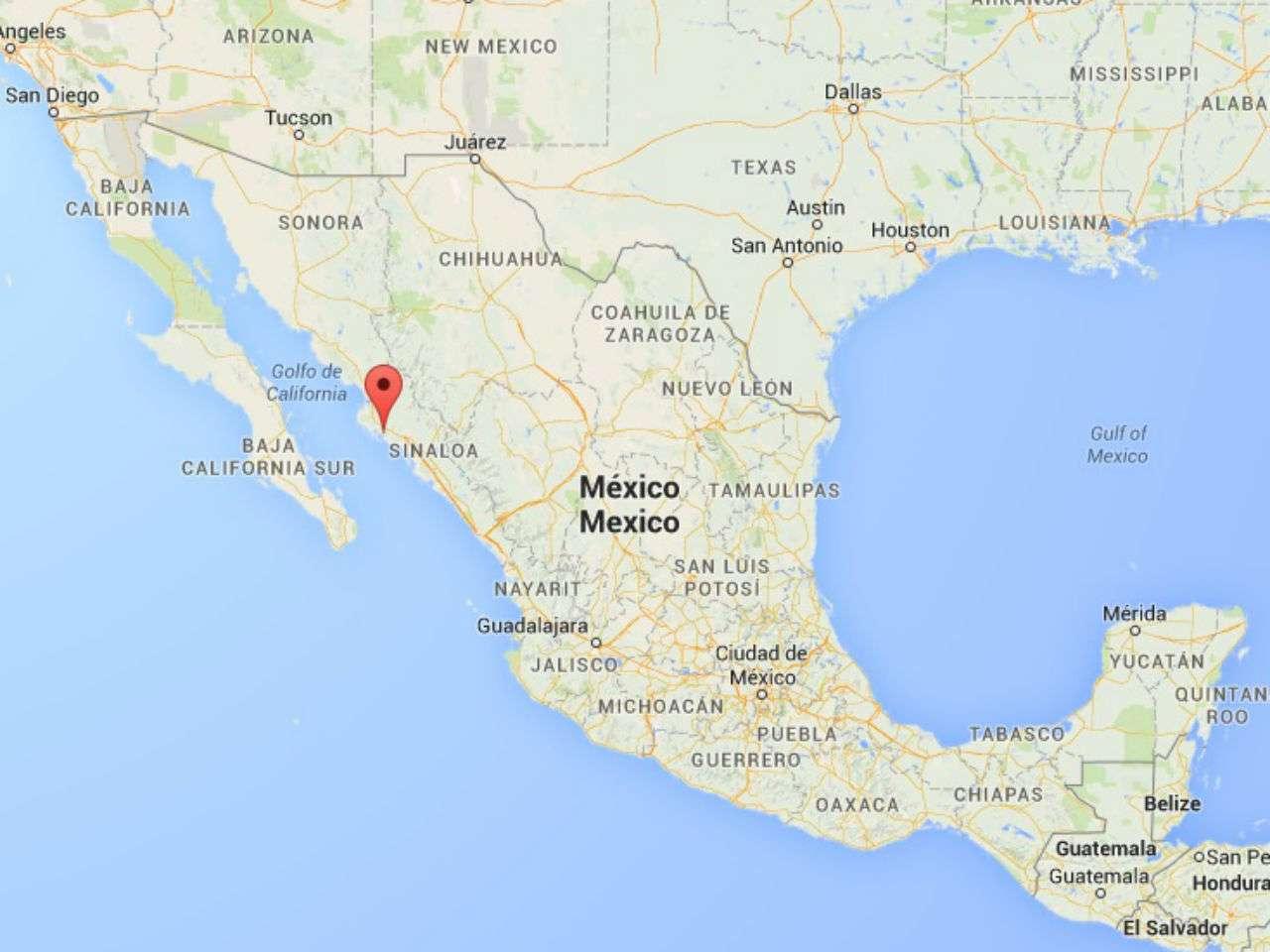 El cadáver fue hallado en el municipio de Ahome, estado de Sinaloa. La Asociación de Periodistas de Los Mochis exigió el esclarecimiento del crimen. Foto: Google Maps