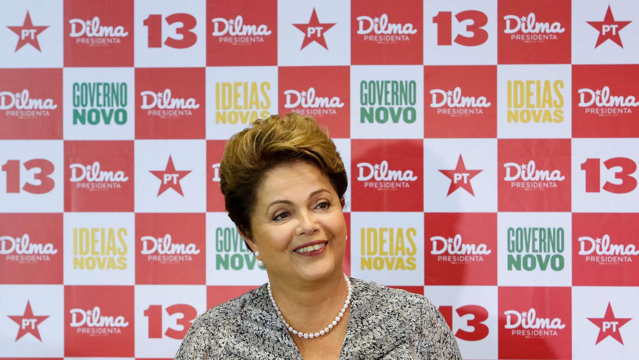 Dilma Roussef durante entrevista a jornalistas em um hotel na Barra da Tijuca, no Rio de Janeiro, nesta quinta-feira, 23 de outubro Foto: Ichiro Guerra/Divulgação