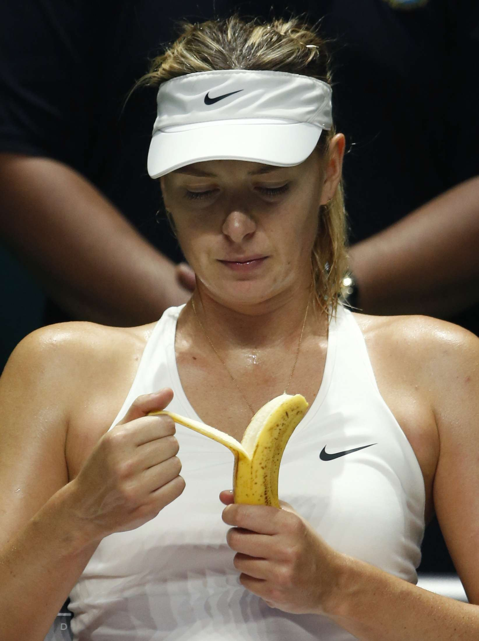 Maria Sharapova comendo banana Foto: Edgar Su/Reuters