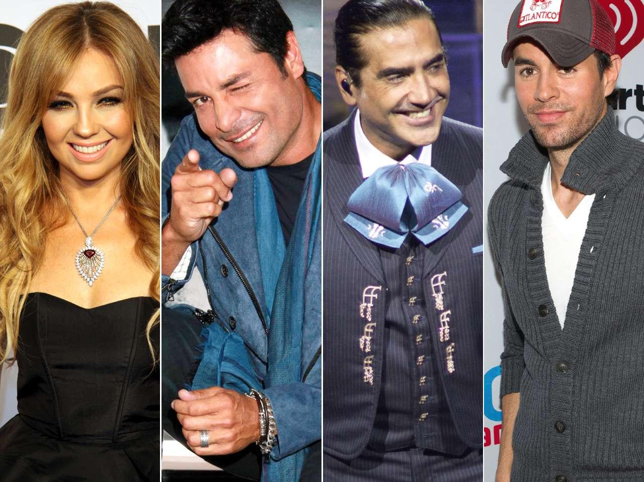 Thalía, Chayanne, Alejandro Fernández y Enrique Iglesias Foto: Photo AMC