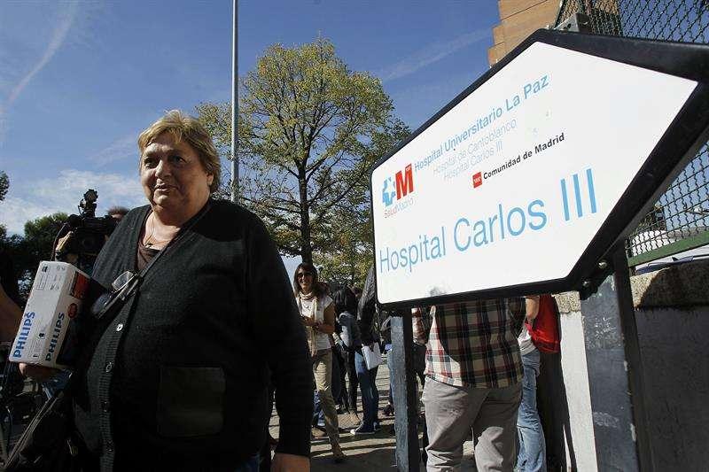 María Teresa Mesa, amiga y portavoz de la auxiliar de enfermería, Teresa Romero. Foto: EFE en español