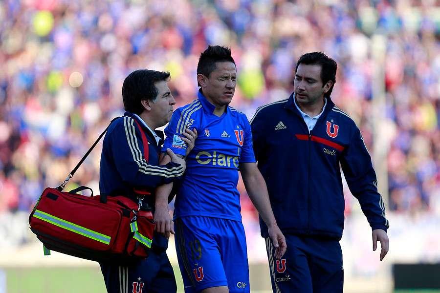 Gustavo Canales sufrió un esguince de tobillo. Foto: Agencia UNO