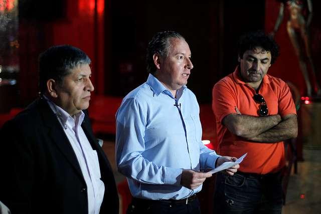 Sandro Rematal, Fernando Borquez y Marco Sepulveda empresarios nocturnos. Foto: Agencia UNO