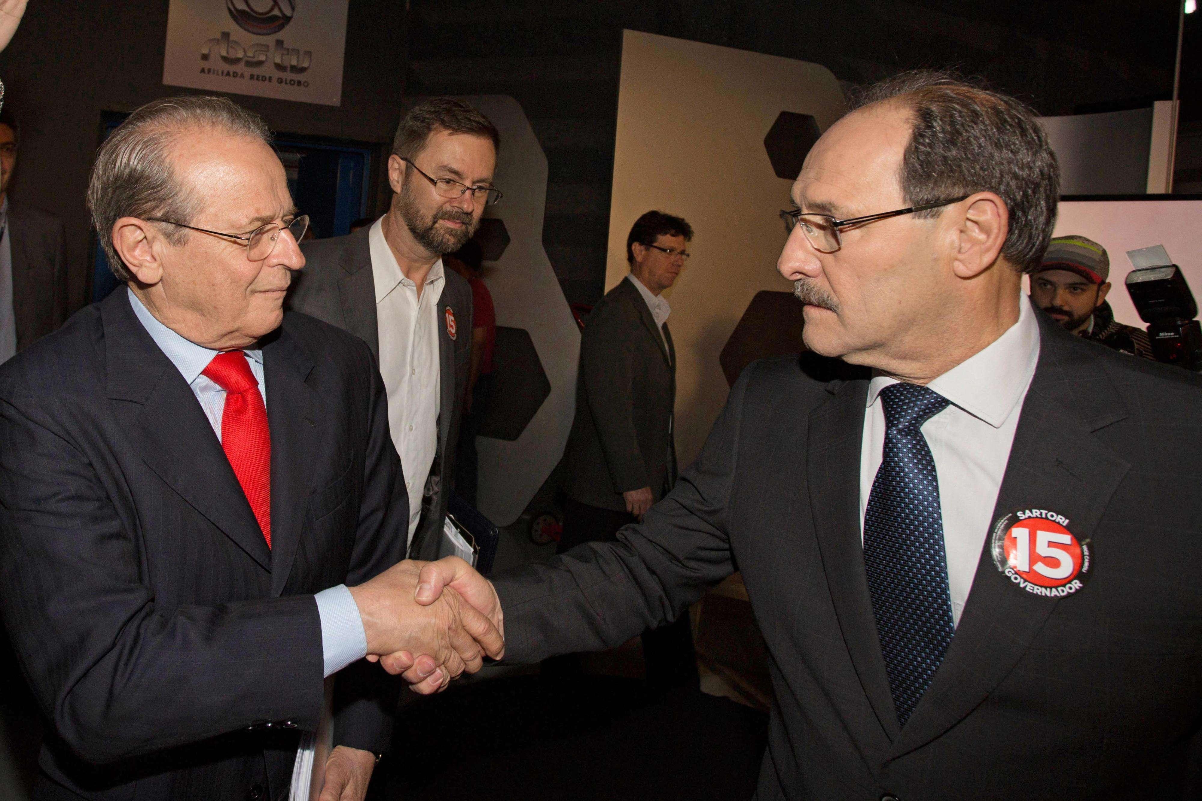 Candidatos se encontraram em debate nesta quinta-feira Foto: Caco Argemi/APPRS/Divulgação