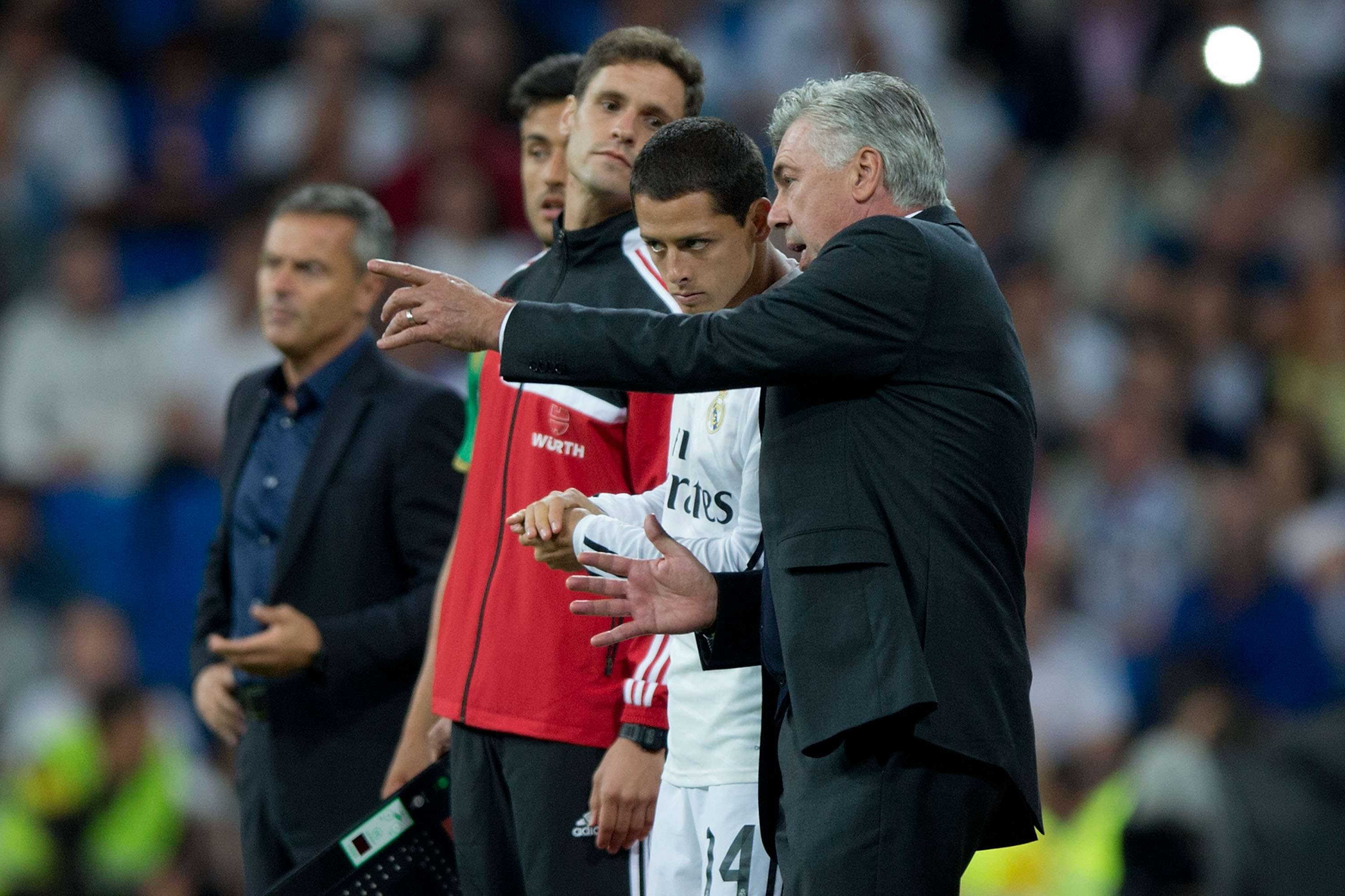 'Chicharito' es el as bajo la manga de Ancelotti. Foto: Getty Images