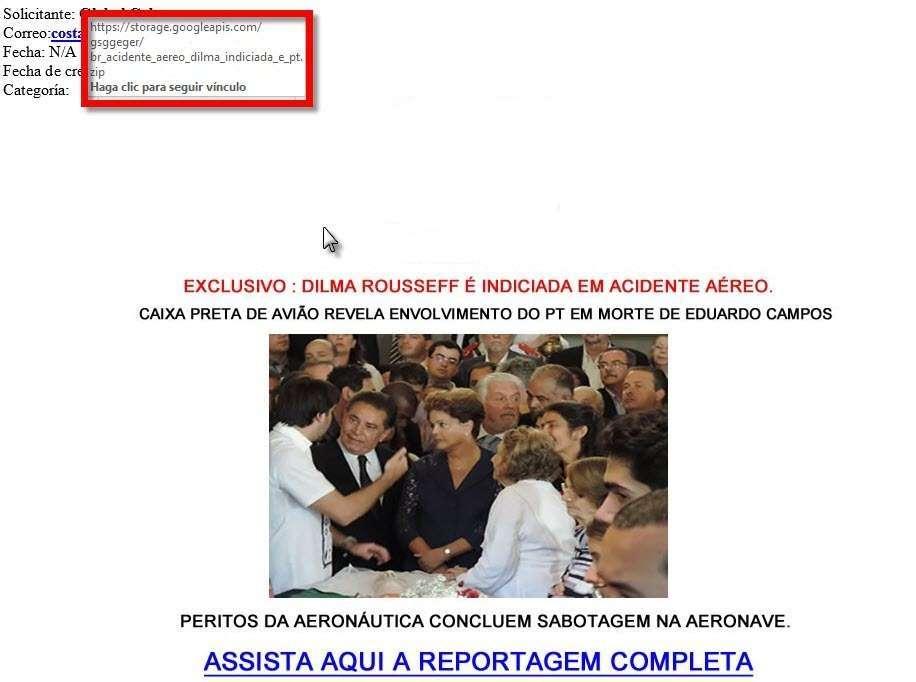 Vírus Dilma Aécio Foto: Reprodução