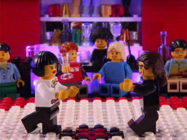 Pulp Fiction en Lego. Foto: Captura de video