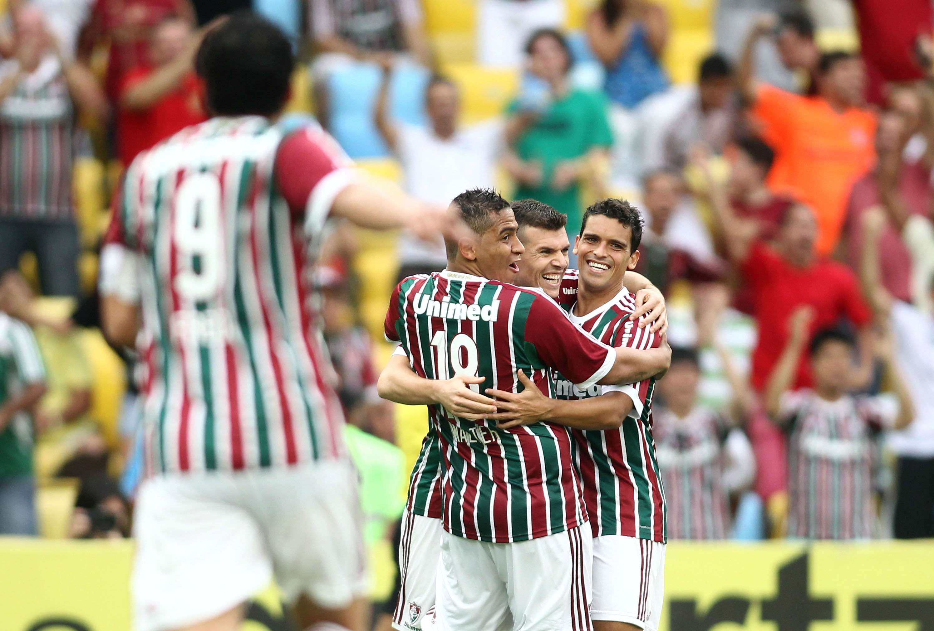 Fluminense faz festa com gol Foto: Matheus Andrade/Photocamera
