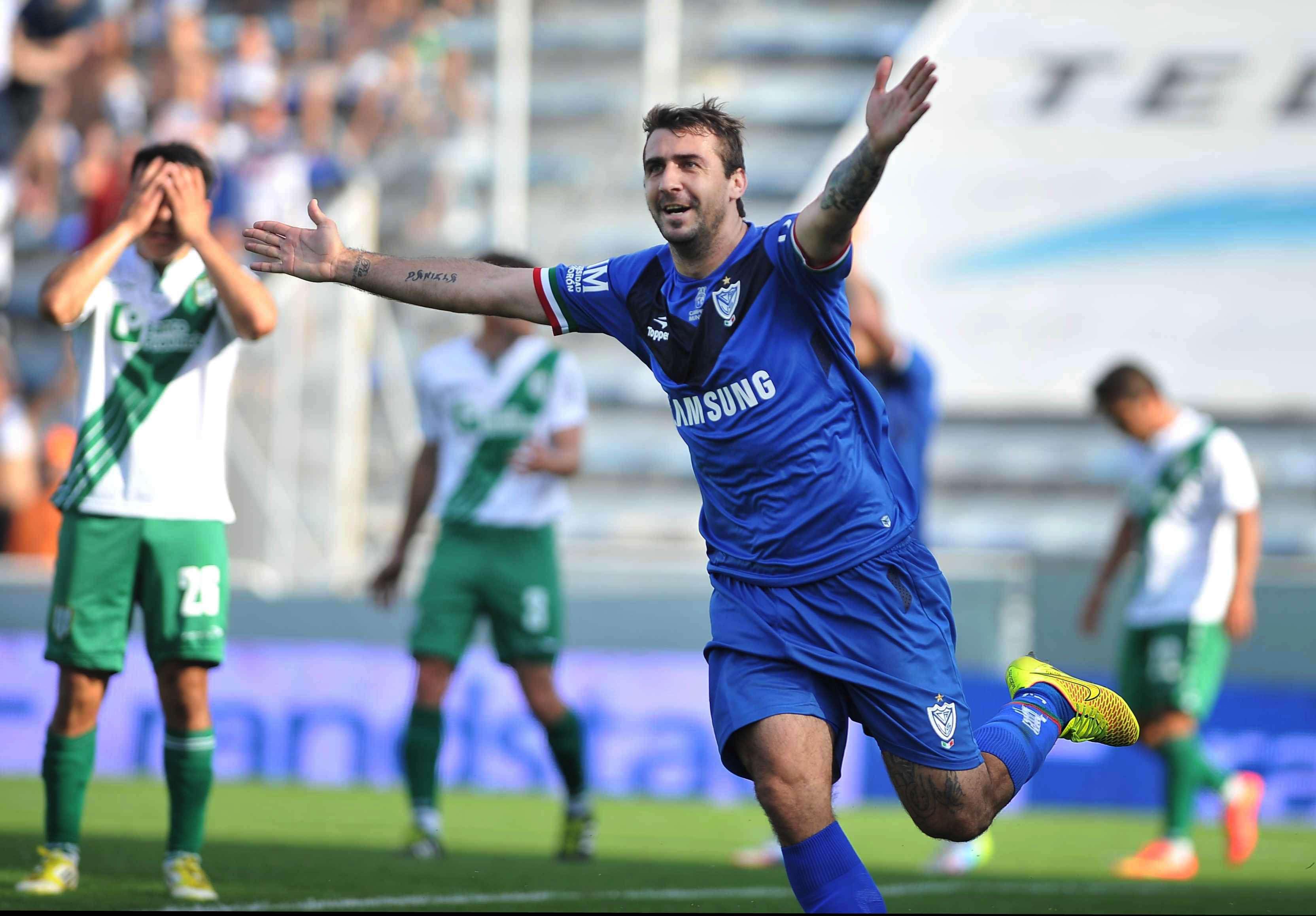 Pratto festeja el único gol del partido. Foto: agencias