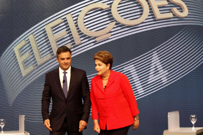 Em dois blocos do debate, Dilma e Aécio tiveram confrontos diretos Foto: Ale Silva/Futura Press