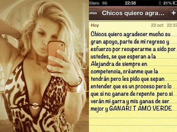 """Alejandra Baigorria regresa a """"Combate"""". Foto: Twitter"""