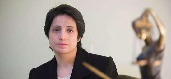 La abogada Nasrín Sotudé fue detenida durante una protesta. Foto: http://www.fidh.org