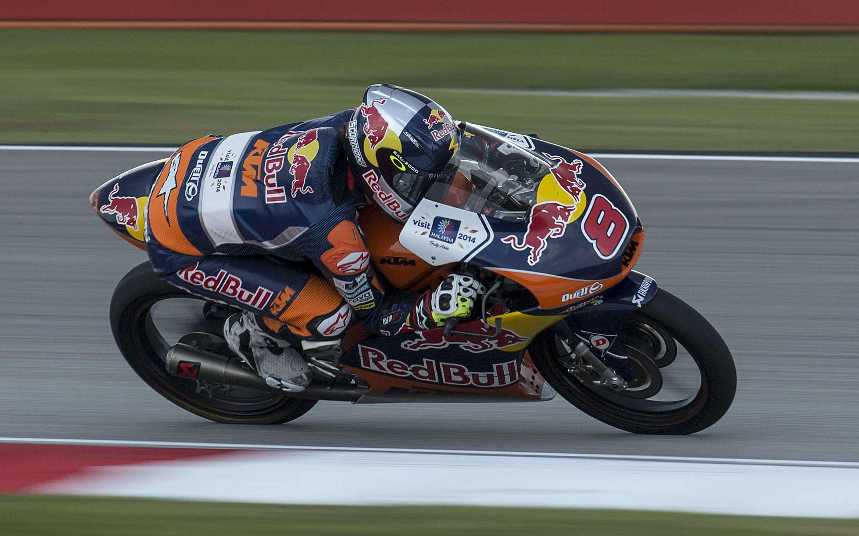 El piloto australiano de Moto3 Jack Miller participa en una sesión de entrenamientos libres para el Gran Premio de Malasia de motociclismo ayer, viernes 24 de octubre de 2014 en el Circuito Internacional de Sepang (Malasia). Foto: EFE en español