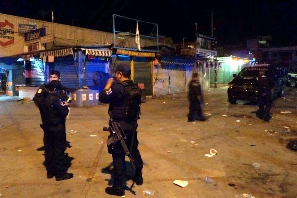 La zona fue resguardada por la Policía Foto: Benito Jiménez/Reforma